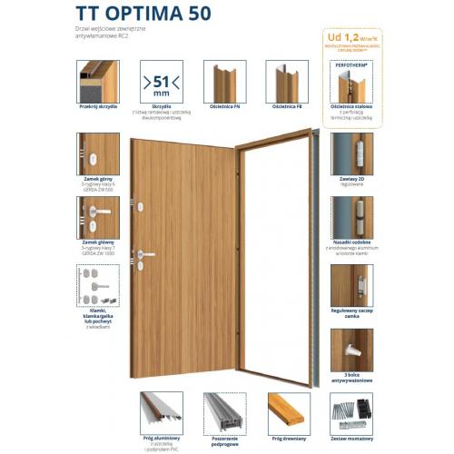GERDA drzwi RC2 TT OPTIMA 50 W9N WENECJA