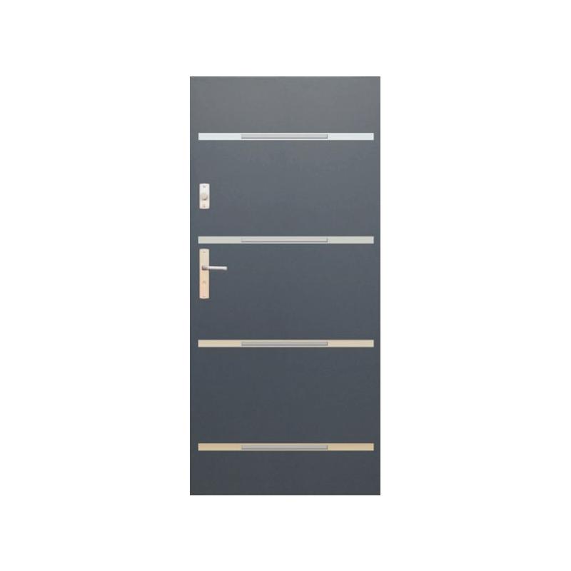 WIKĘD drzwi TERMO PRESTIGE LUX FUTURE INOX FI09C