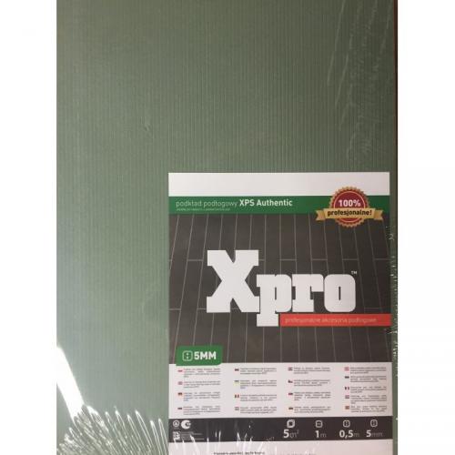 XPS authentic Xpro 1000 x 500 x 5 mm zielony podkład pod panele