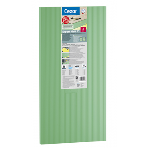 CEZAR EXPERT 55 podkład zielony pod panele podłogowe 5,0 mm