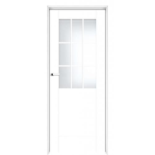 INTER-DOOR drzwi przylgowe LOGGIA MAŁE PRZESZKLENIE MALOWANE BIAŁY