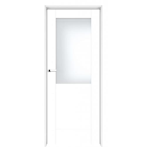 INTER-DOOR drzwi przylgowe LOGGIA MAŁE PRZESZKLENIE MALOWANE KOLOR