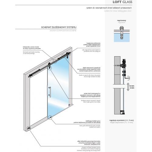 LAGUNA GUSTAVSON LOFT GLASS REGULOWANY