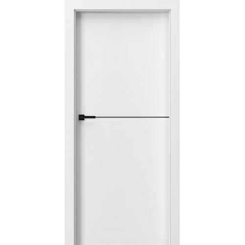 PORTA drzwi z odwrotną przylgą DESIRE UV model 3 czarne intarsje